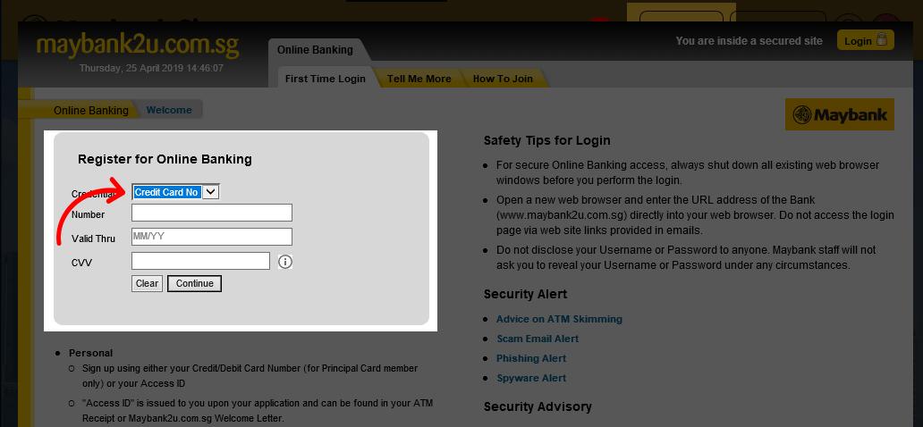 Tutorial Desktop Signup Credit